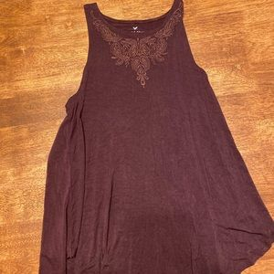 American eagle, embroidered flowy tank